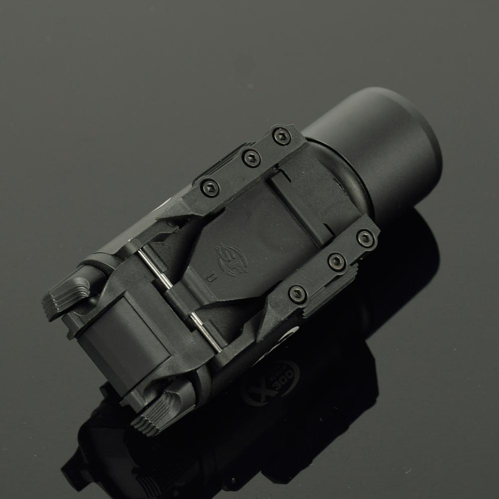 Lampe de poche tactique X300 avec lampe torche militaire Picatinny, fusil de chasse, pistolet, lumière Scout - 5