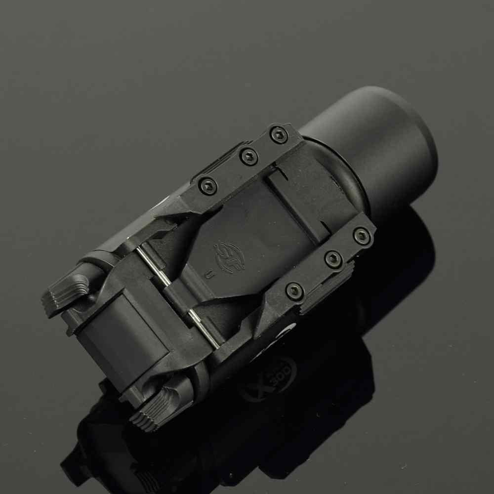 Lanterna tática iluminação de arma x300, airsoft, com picatinny, militar, trilho, caça, rifle, arma, olheiro, luz