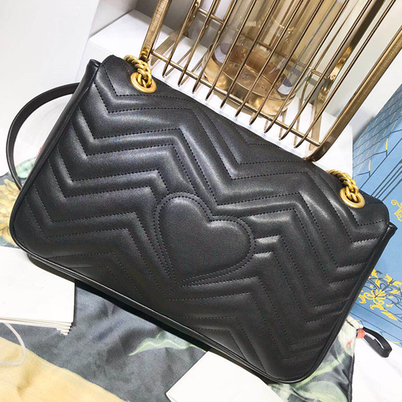top quality fashion women shoulder chain bag G Marmont Bags new arrival classic all genuine leather cowhide bag