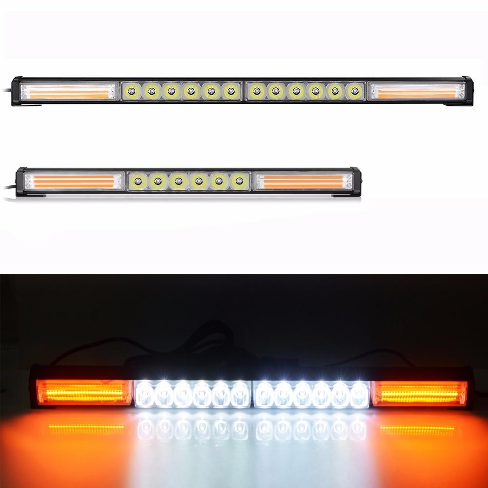 DC12V-24V car led light bar 12v work light 18-54inch Strobe light with switch white+yellow light 58-148w fog light for jeep SUV car fog light switch with red led indicator 12v