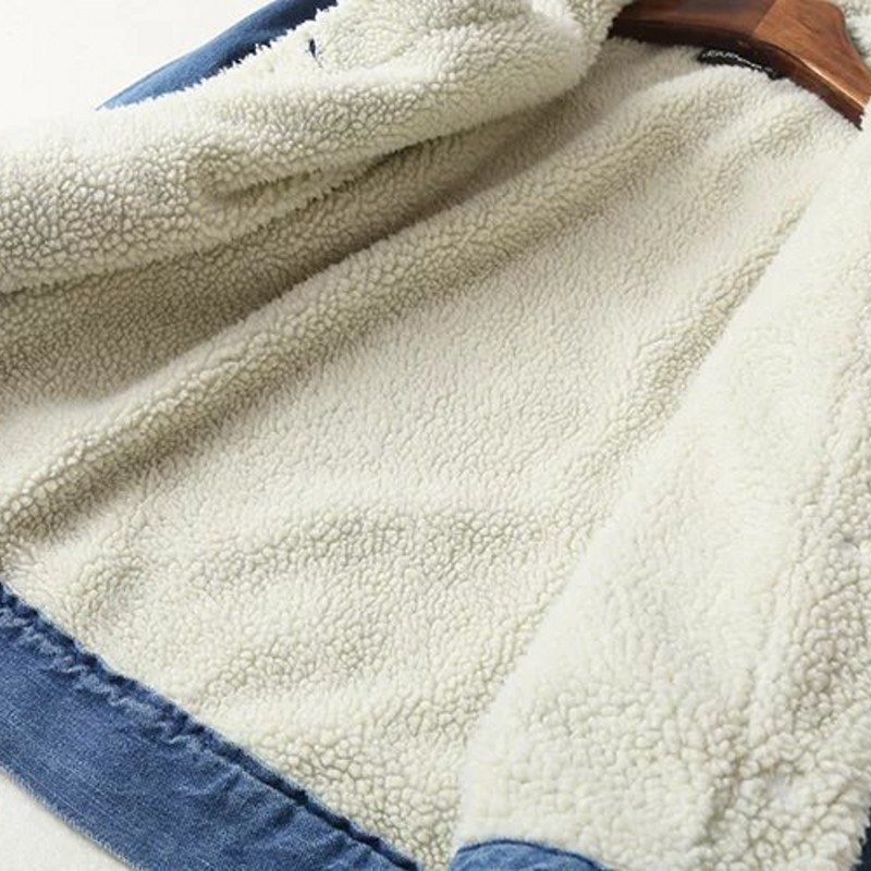 Petto Sottile Agnello Nuovo Lana Chaqueta Di Blu Femminile Singolo Jeans Donne Cappotto Giacca Streetwear Delle Spessore Inverno Mujer Blue Casual 2019 Solido qtxwA6Ag