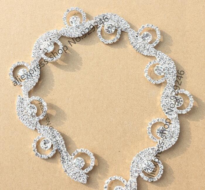 ღ ღfree shipping 90cm/pack 2.5cm wave round circle crystal ...