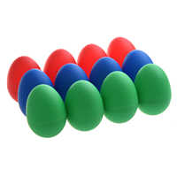 SEWS 12x Egg Maracas Plastic Percussion Music Shakers Color: Blue (4 pieces), red (4 pieces) and green (4 pieces)