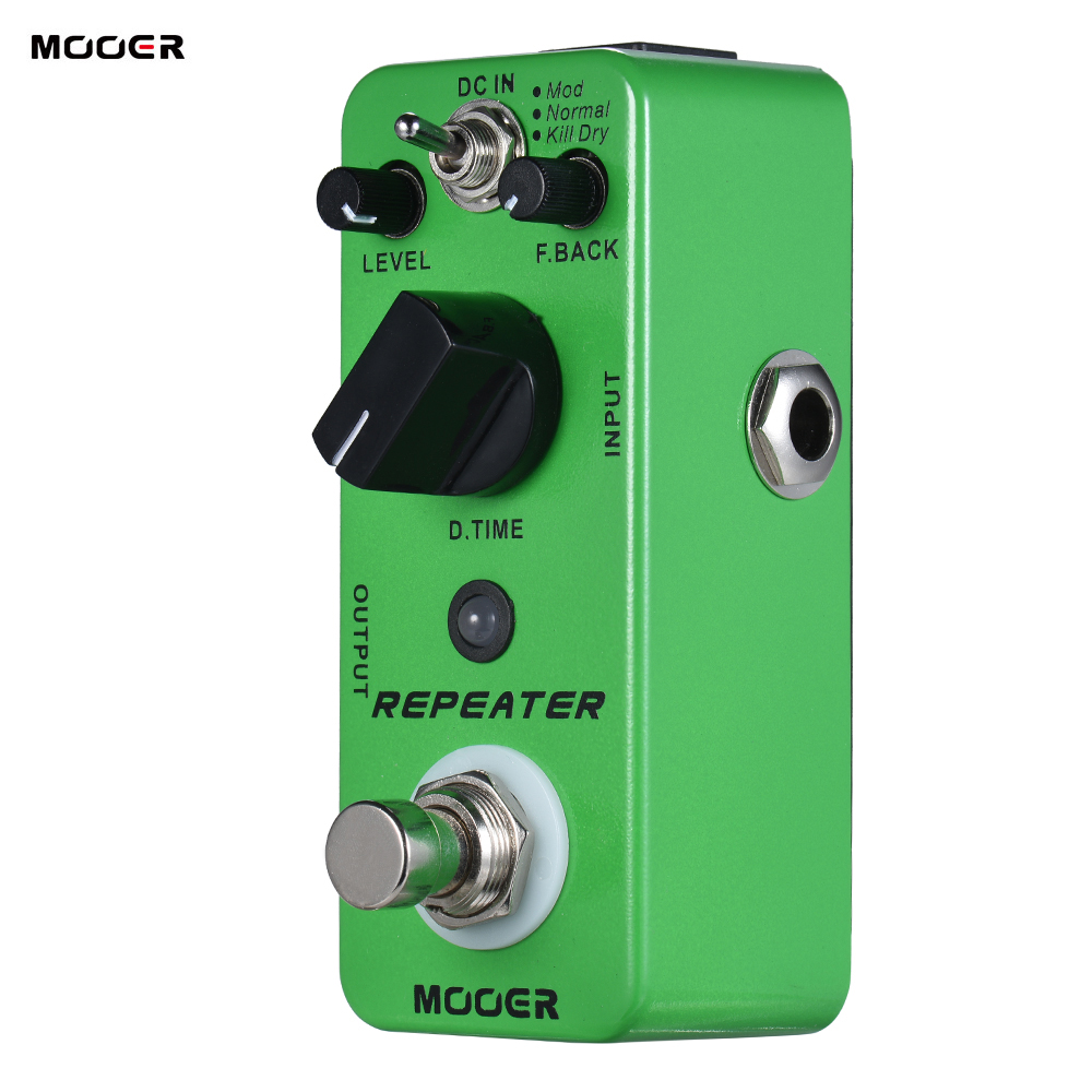 MOOER REPEATER Digital Delay Guitar Effect Pedal 3 Modes True Bypass Full Metal Shell