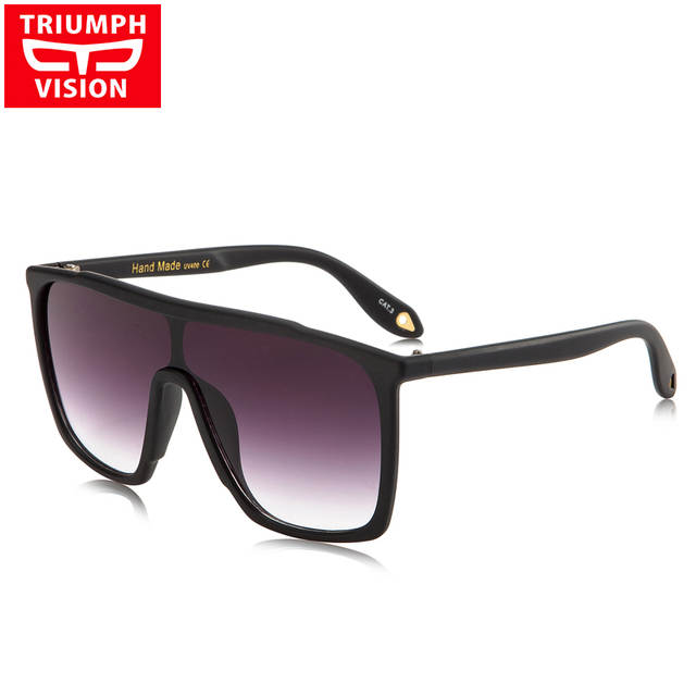 2552e80b6c3 placeholder TRIUMPH VISION Male Flat Top Sunglasses Men Brand Black Square  Shades UV400 Gradient Sun Glasses For