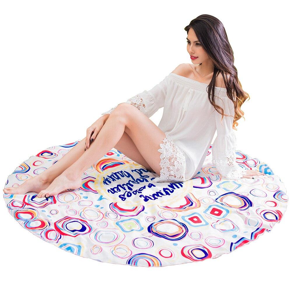 Трансграничной поставка новых Европа и США круглым пляжные полотенца праздник шаль юбка с запахом Yoga коврик халат юбка