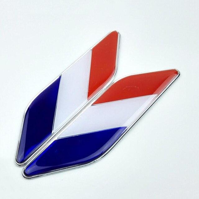 2 pcs ensemble de voiture drapeau fran ais logo embl me for Autocollant mural francais