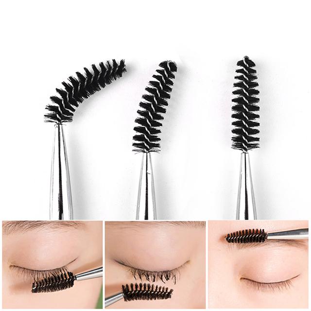 Practical Durable 6 Colors Eyelash Brushes Mascara Wands Applicator Diamond Handle Brushes Eyelash Comb Brushes Spoolers Makeup