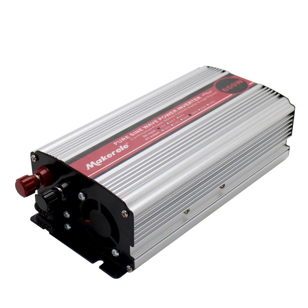純粋な正弦波インバーター 600 ワット 12 V 24 V 48 V DC AC 110 V 220 V コンバータスマートシリーズ太陽光発電 600 ワットサージ電力  グループ上の 家のリフォーム からの インバーター & コンバーター の中 1
