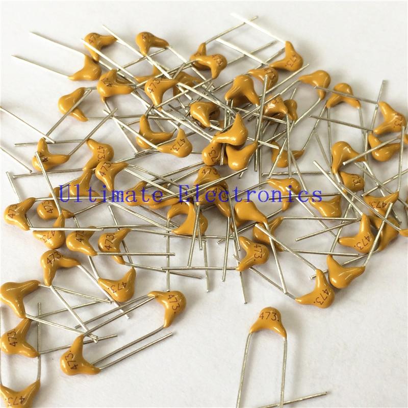 100pcs/lot  Multilayer Ceramic Capacitor 473 50V 47nF 473M P=5.08mm