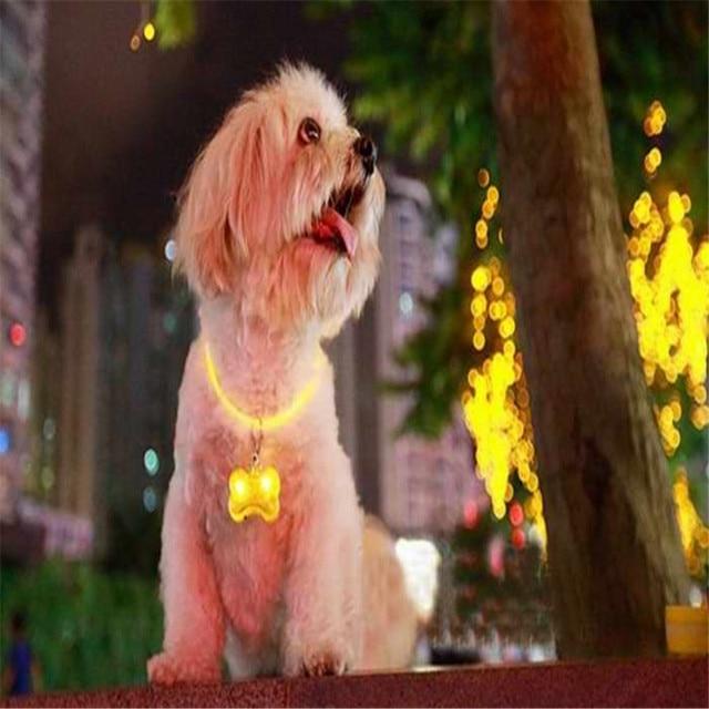 Newest Pet 2x Pet Safety LED Flashing Dog Collar Light Tag Keychain Pendant  Levert Dropship dig6412