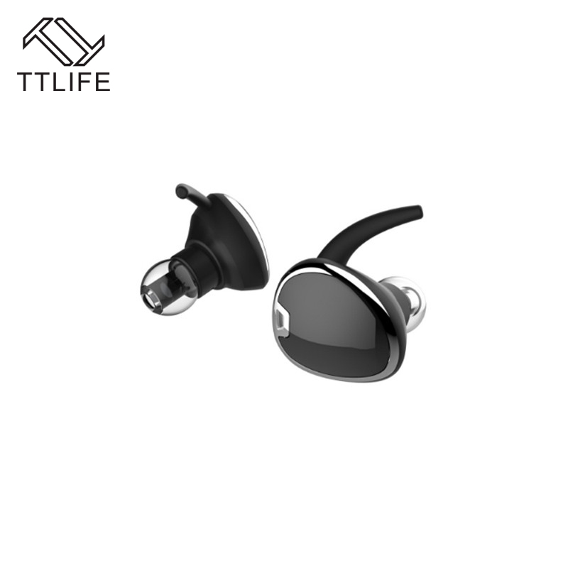 TTLIFE Mini Twins True Stereo Bluetooth Earphone TWS Wireless V4.1 Headphones with Mic DSP Noise Cancelling for Phones xiaomi