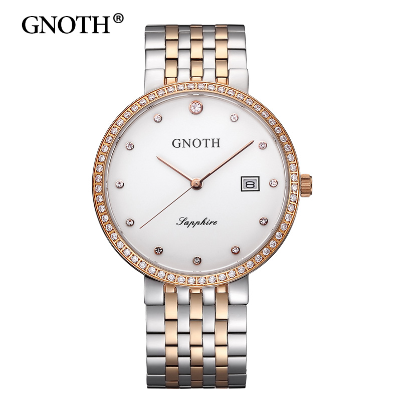Women Quartz Wristwatch GNOTH Top Brand Female Rose Gold Stainless Steel Date Waterproof Watch Lady Clock Gift Box 2017 New Hot mahmoud m ragab nazmi a mohammed and moustafa h aly wavelength conversion using nonlinear effects in optical fibers