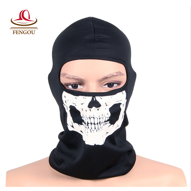 Balaclava Beanies Motorcycle Ghost Skull Face Mask Sport Warm Ski Caps Bicyle Bike neck warmer Balaclavas Scarf full Face Mask yifei halloween skull skeleton mask motorcycle bicycle multi function scarf half face mask cap neck ghost scarf ski mask outdoor