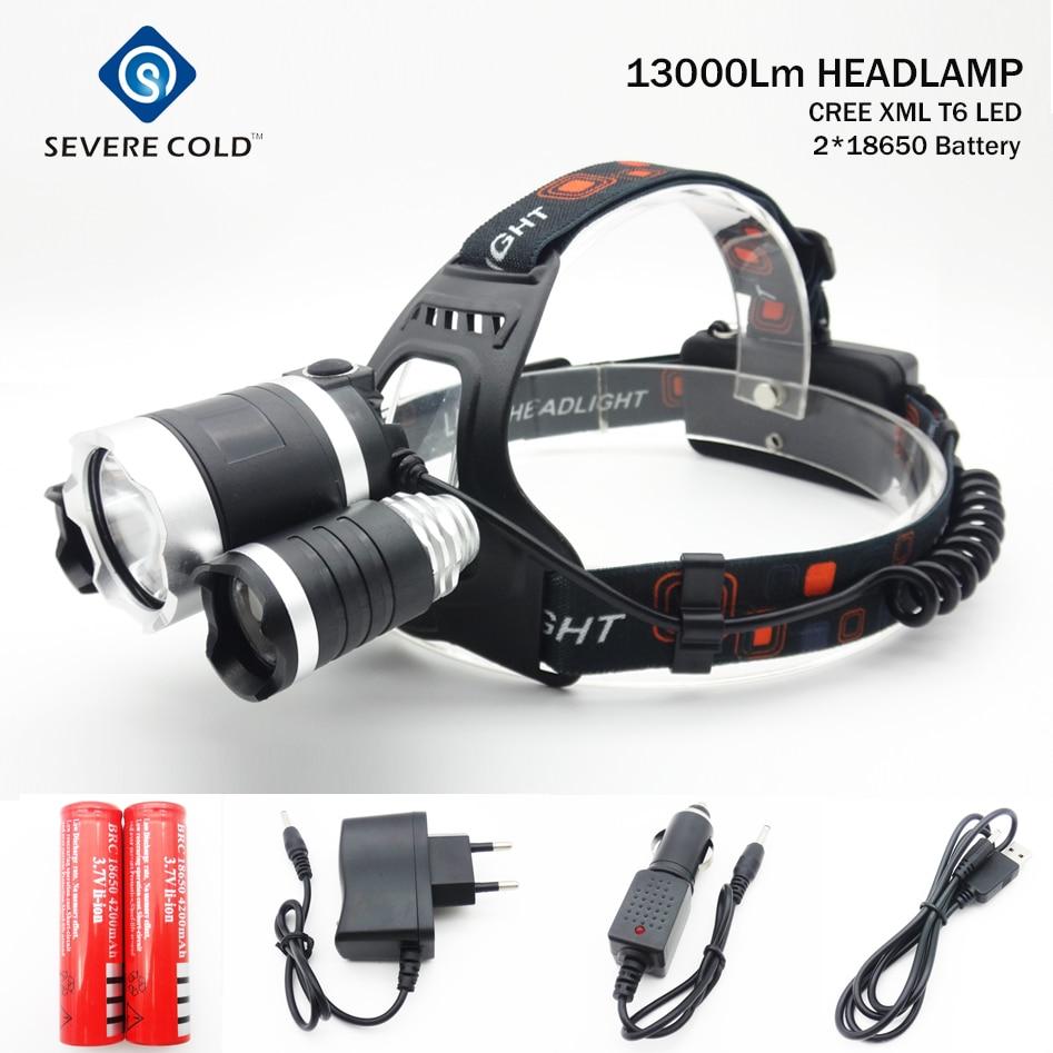 13000lm cree xml t6 2xpe led headlight headlamp head lamp. Black Bedroom Furniture Sets. Home Design Ideas
