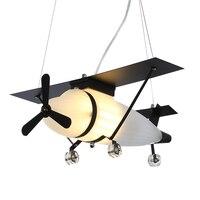 Modern Glass Airplane Kids Pendant Light Children Bedroom lLiving Room hanglamp Child Plane pendel lamp nordic Pendant Lamp