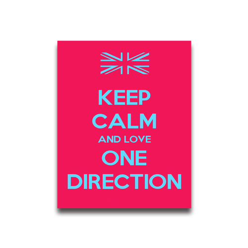 Keep Calm And Love One Direction Customized Poster Print 1620 Custom Wallpaper Factory Direct