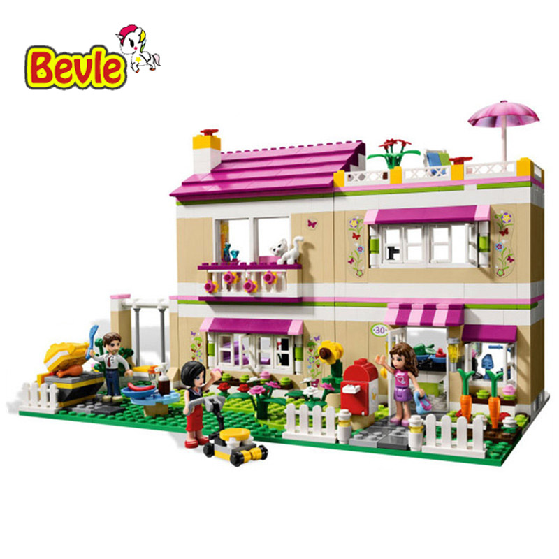 Bevle Bela 10164 Friends Olivia Villa Party Carnival Toys Gift Building Block Toys Compatible with LEPIN lepin 22001 pirate ship imperial warships model building block briks toys gift 1717pcs compatible legoed 10210