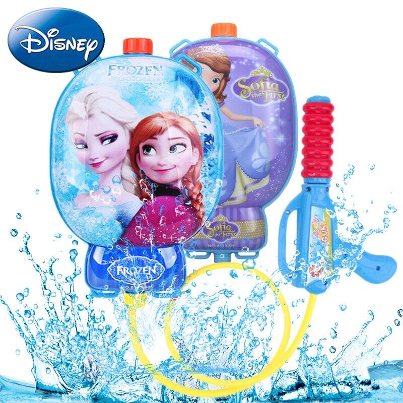 Disney Kids Blaster Water Gun Toys Outdoor Games Children Water Guns Backpack Colorful Beach Combat Squirt Toy Pistol Spray Gift