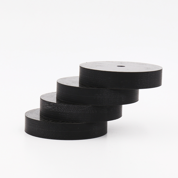4pcs X Black Carbon Fiber Turntable Speaker Isolation 50X10mm Spike Base Pad Shoe Feet For Hifi Amplifier ,CD, DVD Player