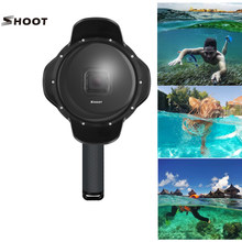 SHOOT 40m Diving Waterproof Dome Port for GoPro Hero 6 Hero 5 Professional 6 inch Dome Action Camera Accessories(China)