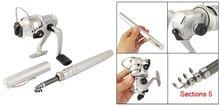 Good deal New Silver Black Pocket Pen Metal Fishing Rod +4.3:1 Spinning Reel Tackle Set