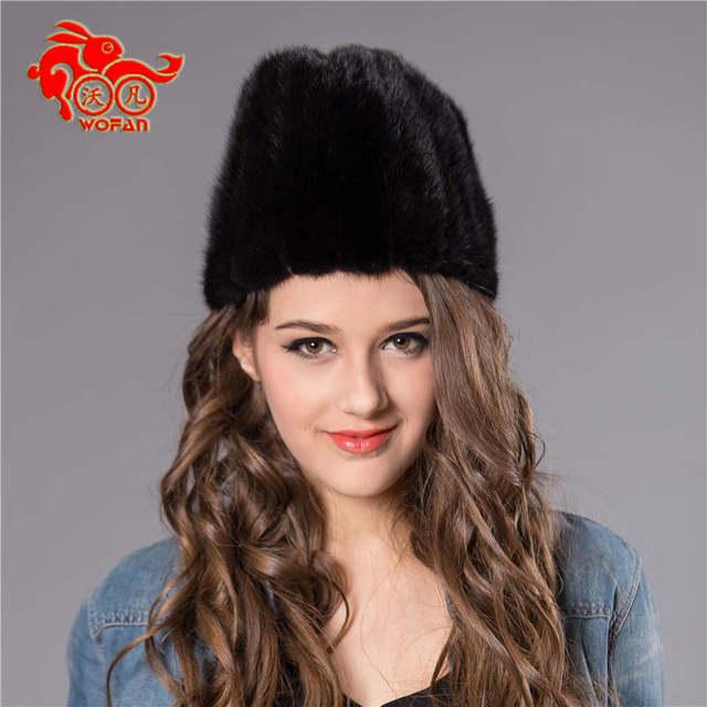 Real de piel de visón sombrero Beanie cap head warmer hottest cráneo para mujer ' sombrero winter buen regalo