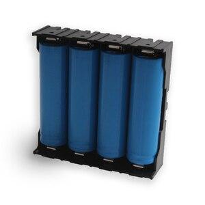 Image 5 - 100 ピース/ロット 18650 バッテリーホルダー 18650 電池ボックスホルダー電池ケースのための 4*3.7 V 18650 リチウム電池はんだ