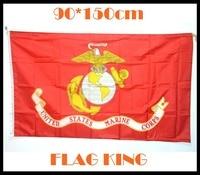 90 * 150cm US Marines USMC flag banner celebration decoration FOOD
