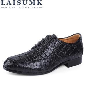 LAISUMK Oxford-Shoes Genuine-Leather Plus-Size Men's Brand Business Man