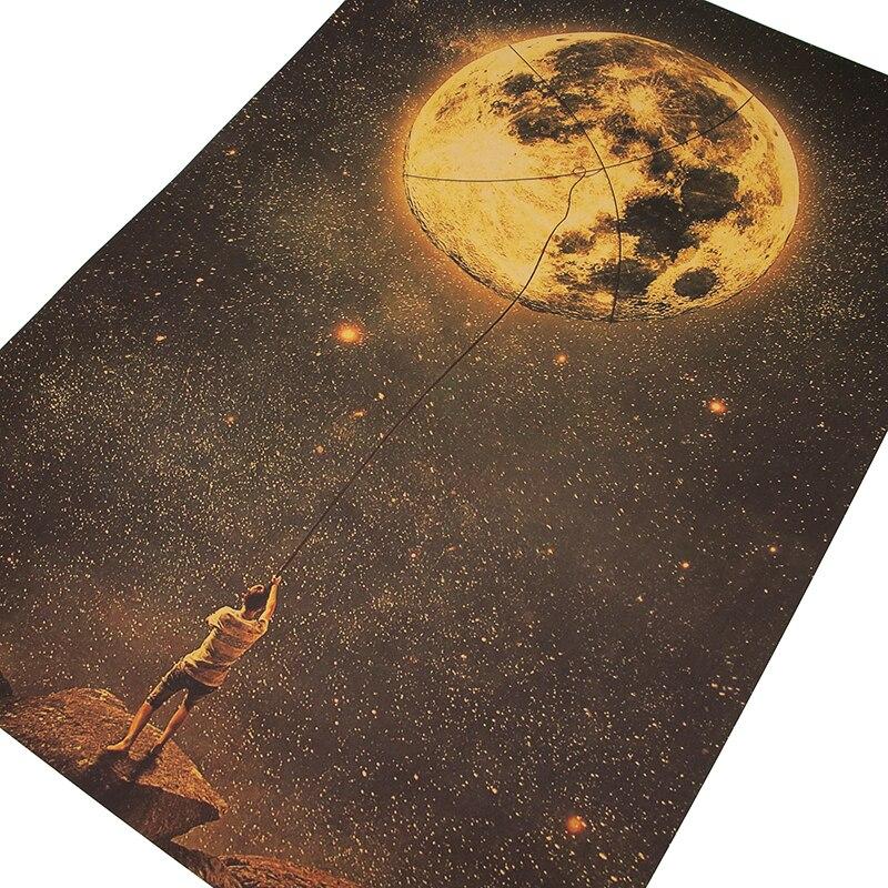 DLKKLB винтажный художественный плакат с захватом мечты художественный Декор Ретро Крафт-Бумага борьба декоративная живопись 50,5x35 см Бар Кафе Наклейка на стену
