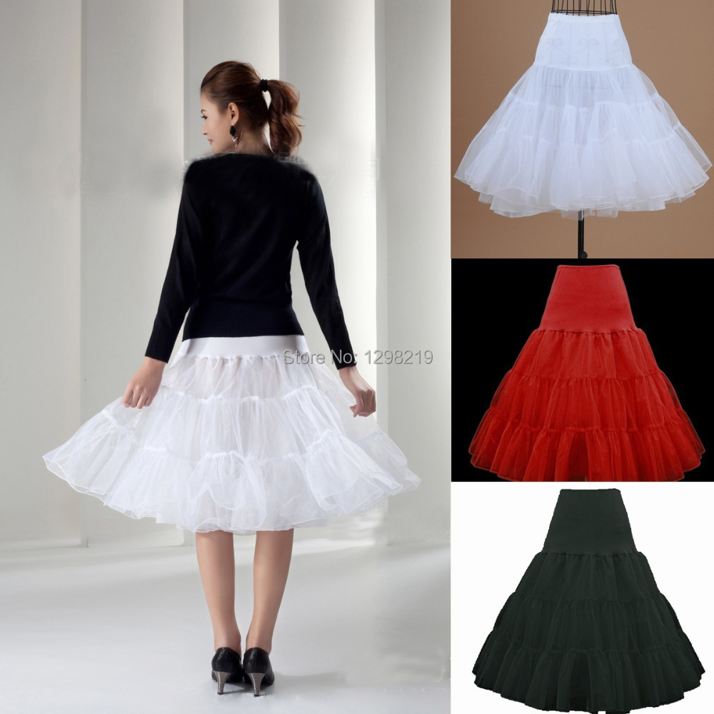 Free shipping white red black short a line petticoat Wedding dress petticoat a line