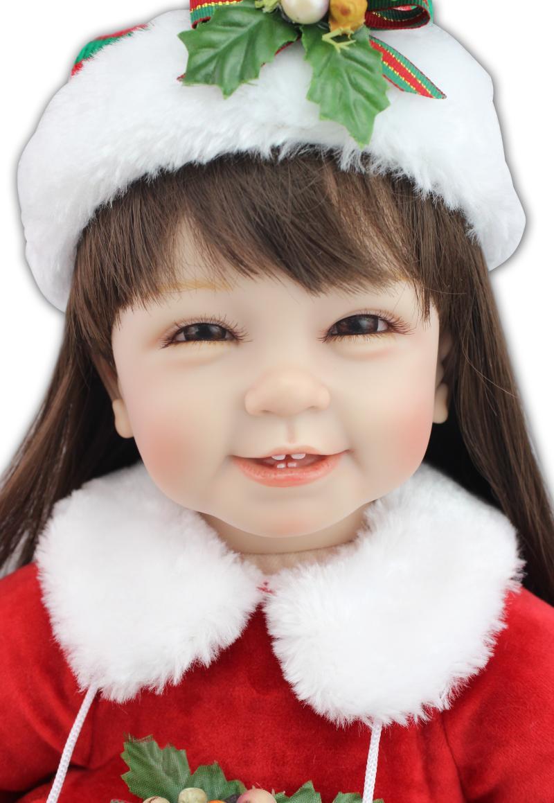 Christmas dress up - Aliexpress Com Buy 22inch 55cm Silicone Baby Reborn Dolls Christmas Dress Up Adora Doll Boneca Brinquedos Menina Kids Playmate Christmas Gifts From