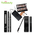 New style Eye makeup combination 3 pcs Makeup Set maquillaje paleta 12 color eye shadow + mascara + eyeliner pen Cosmetic Kit