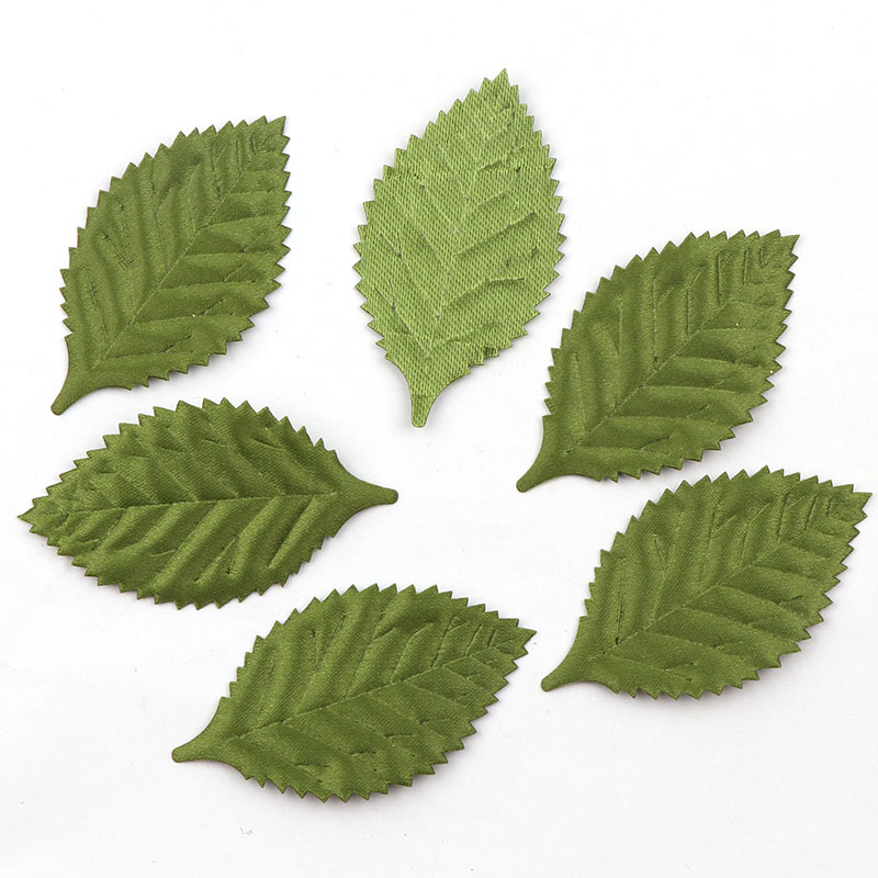 50 шт. нетканый материал зеленые листья фетровая ткань тканая заплата «сделай сам» Аппликации/Ремесло Свадебные патчи