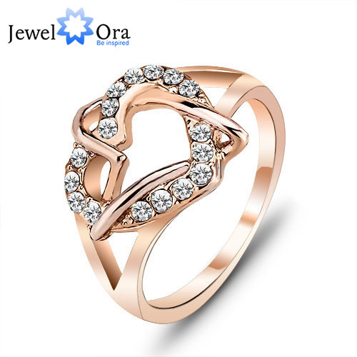 dp com women rose rings lady promise kc cz gold engagement white love anniversary amazon plated eternity best s crystal eternal