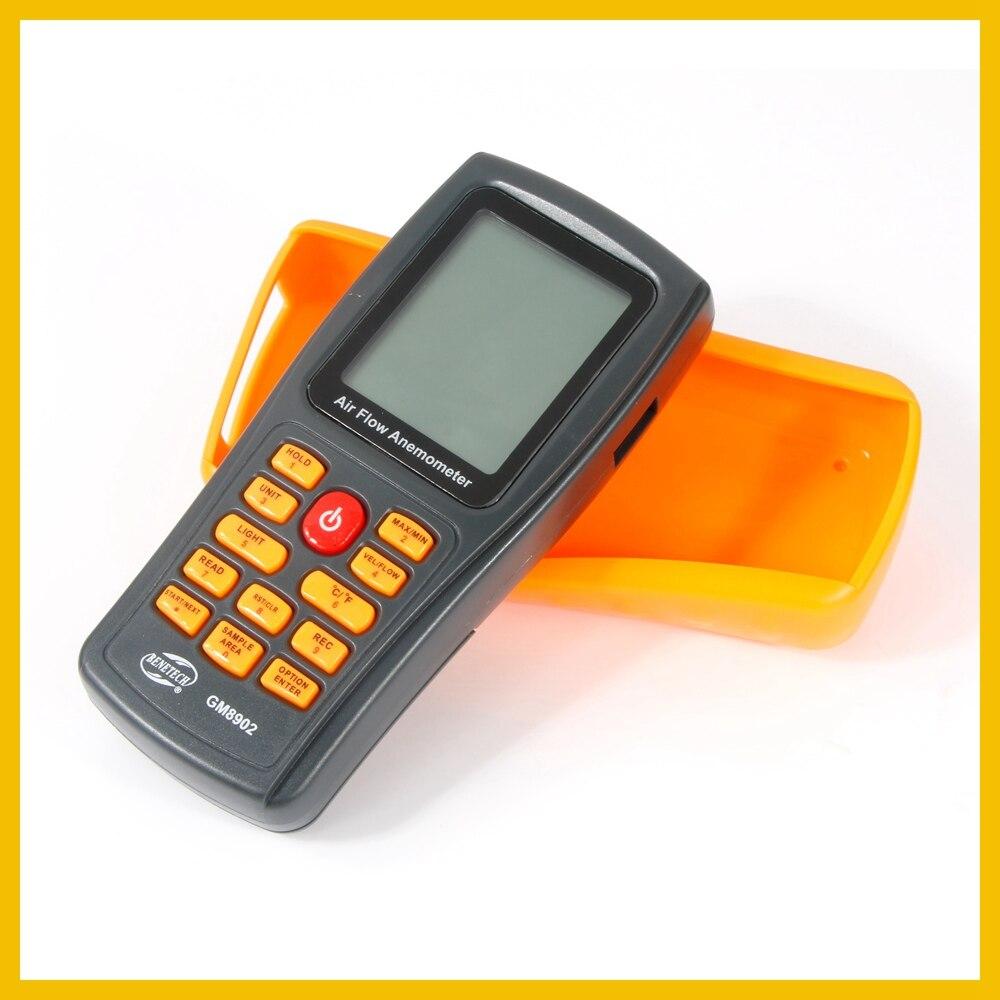 Anémomètre numérique compteur de vitesse du vent testeur de débit d'air mesurant 0 ~ 45 m/s avec thermomètre anémomètre portable USB GM8902-BENETECH - 3
