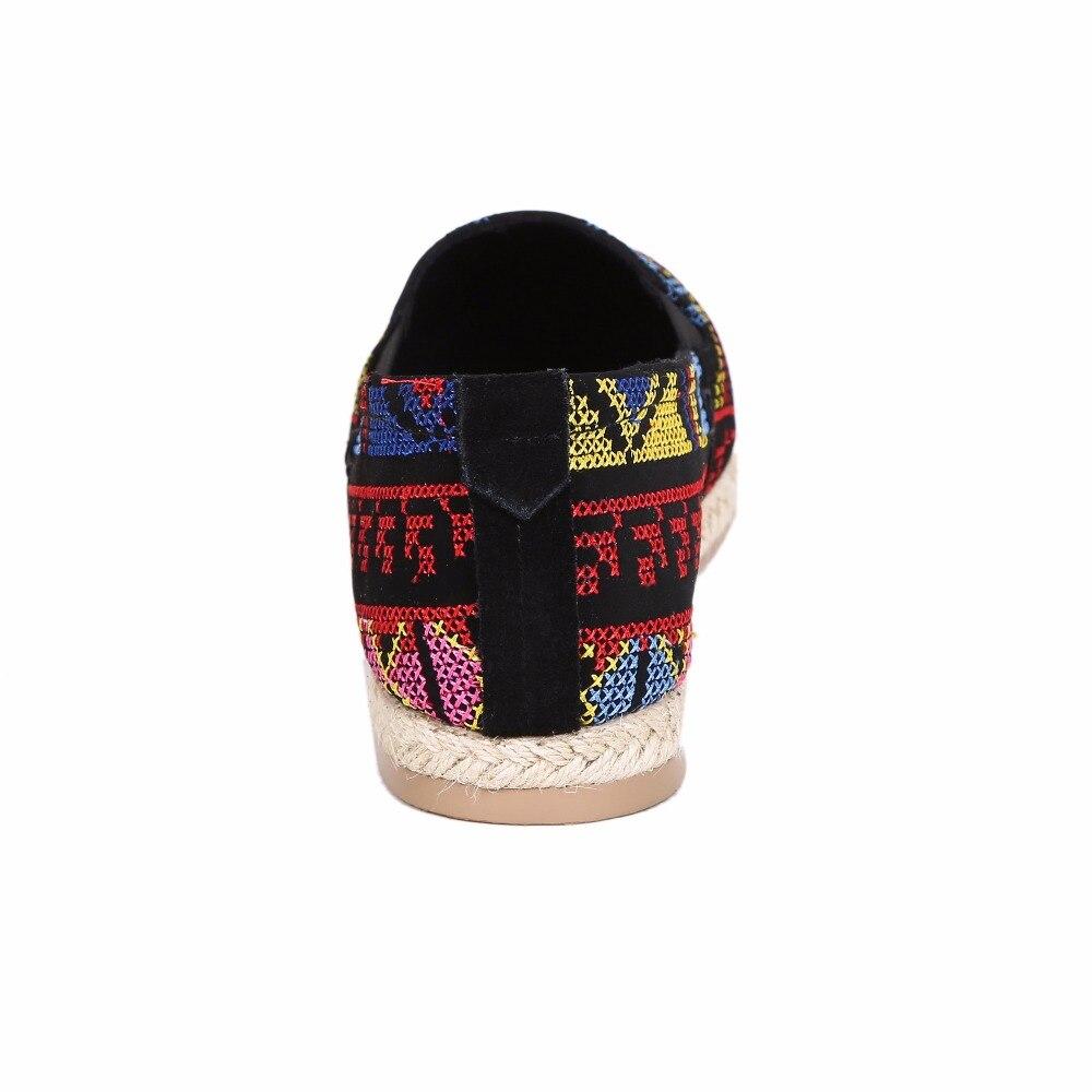 Broderie 20170126 Femmes Traditionnelle Chaussures Profonde Bout Rétro National Multi D'été Bouche De Dame Style Pointu Décontractées Peu SqpGUzMV