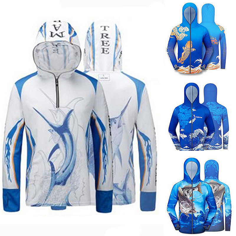 2018 New arrival Brand Fishing Clothes Anti UV Breathable Quick drying Professional Long sleeve Hooded Fishing Shirt 2018 new daiwa fishing clothing summer anti uv camouflage fishing clothes men s hooded jacket waterproof quick drying coat