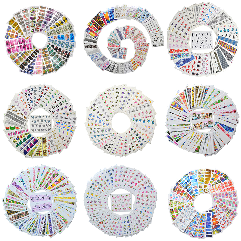 Sticker Foil-Set Watercolor Flower Manicure-Decor Floral Newest-Designs Wholesale