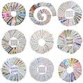 Оптовая продажа  смешанный набор наклеек для ногтей с акварельными цветами  новейший дизайн 2020  набор гелевых наклеек для маникюра  набор из...