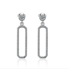 Everoyal New Arrival Lady Silver 925 Earrings For Women Accessories Fashion Zircon Geometric Stud Female Jewelry