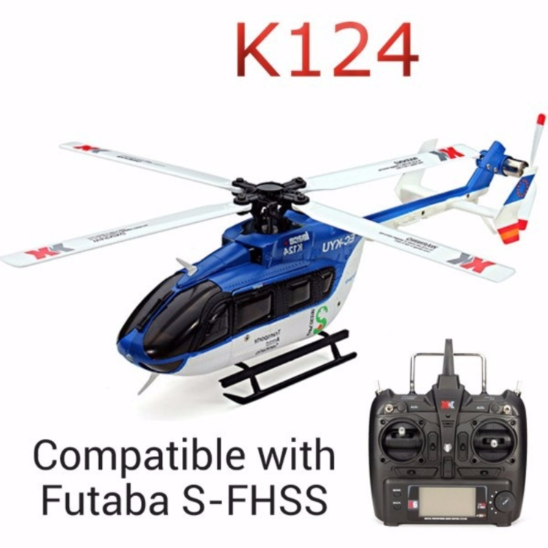 Rc Heliocpter K124 6CH Brushless motor 3D 6G System with FUTABA S-FHSS RC Helicopter RTF remote control toy for child best gifts original xk k124 bnf without tranmitter ec145 6ch brushless motor 3d 6g system rc helicopter compatible with futaba s fhss