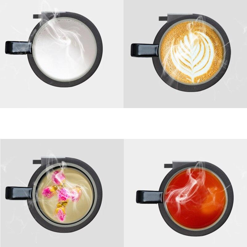 100 240 В Подогрев чашки коврик теплый коврик для кофе молоко водонагреватель подстаканник Настольный отопительный инструмент беспроводной зарядный термостат - 4