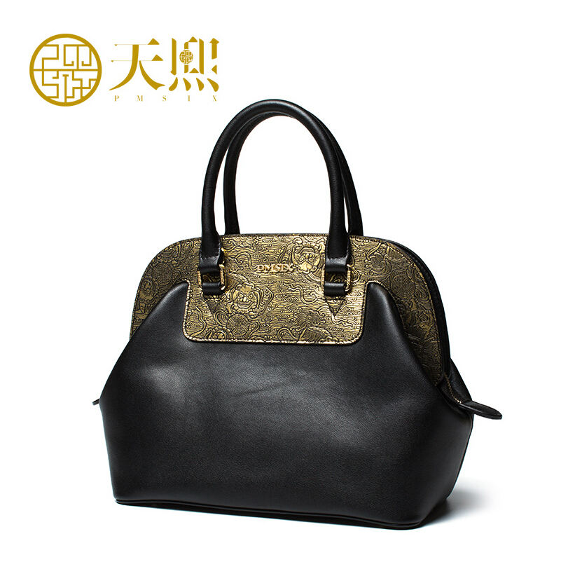 2018 New brand women genuine leather bag Hit color retro fashion top quality women handbags shoulder cowhide bag 2016 new women genuine leather bag fashion chinese style top quality cowhide embossing women leather handbags shoulder bag