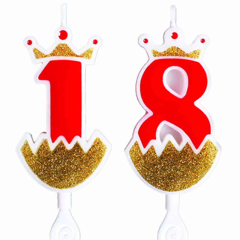 Detail Feedback Questions About Birthday Candles Gold Red Number