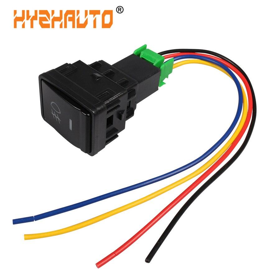1 pçs 5 pinos botão de ligar-desligar com cabo interruptor de luzes de nevoeiro do carro automático para nissan qashqai tiida para honda civic crv para toyota corolla