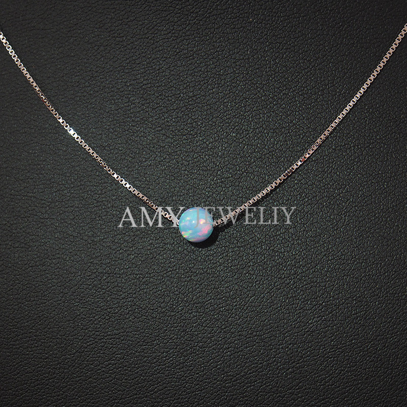 Box chain opal necklace 925 sterling silver synthetic opal pendant box chain opal necklace 925 sterling silver synthetic opal pendant in necklaces pendants from jewelry accessories on aliexpress alibaba group aloadofball Gallery