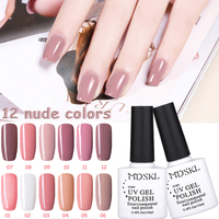 MDSKL 10ml Nude color Gel Nail Polish Holographic Glitter Nail Polish Varnish Hologram Effect Polish BP Nail Art