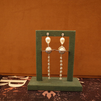 Local focal 925silver Saturn Drop Earrings